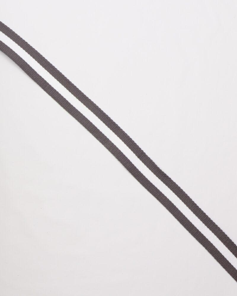Grå/hvid - Gjordbånd 30 mm -