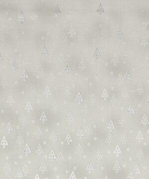 Christmas is near, Lysegrå m. sølv - Patchwork -
