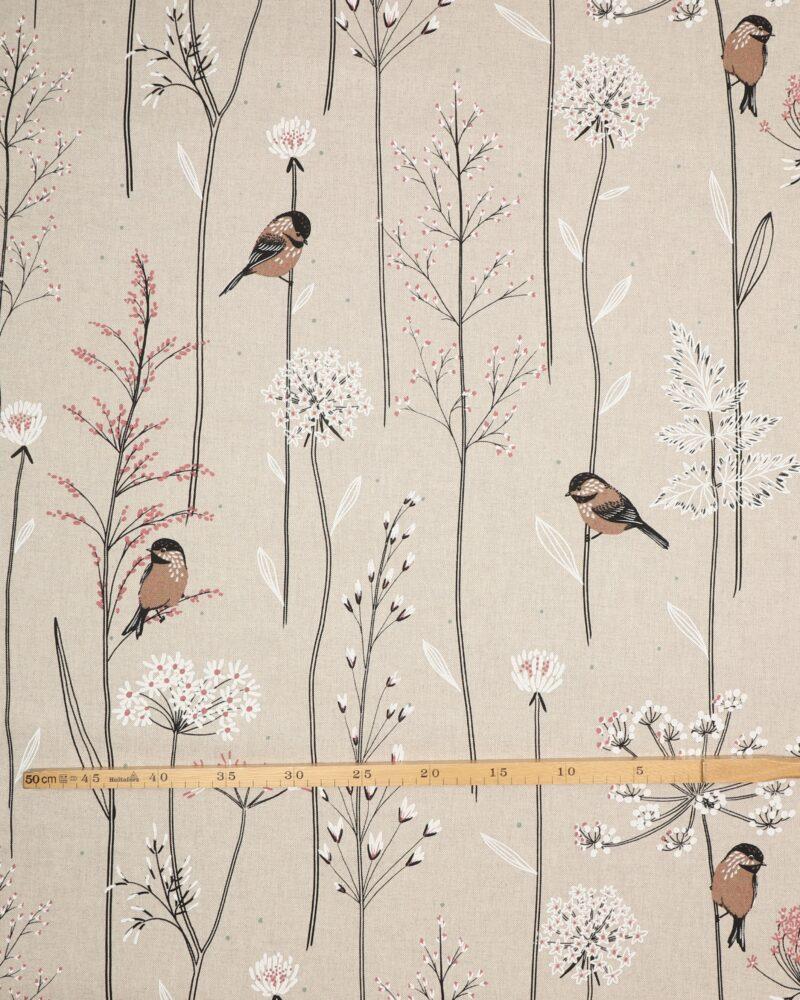 Lille fugl blandt blomster - Boligtekstil -