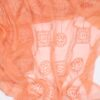 Orange m. broderi - Silkechiffon - Info mangler