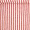 Hvid og rustrøde striber - Bomuld - Info mangler