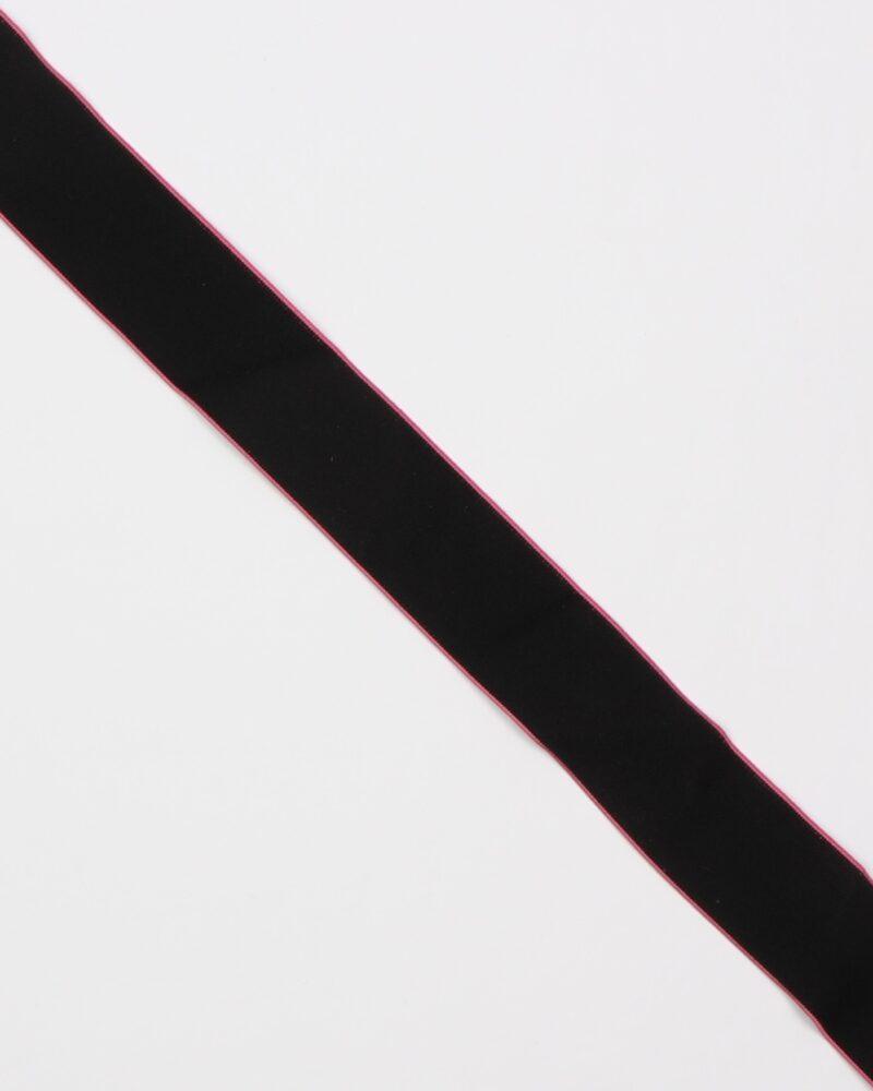 Sort m. pink kant - 40 mm elastik -