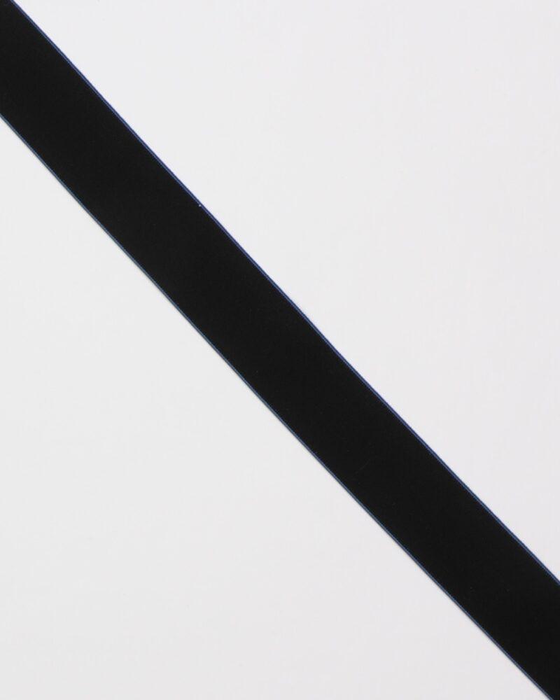 Sort m. koboltblå kant - 40 mm elastik -