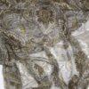 Mønster i olivengrønne nuancer - Silkechiffon - Info mangler