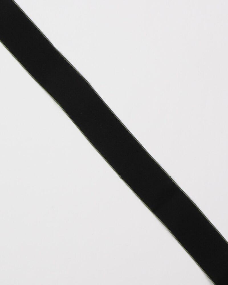 Sort m. olivengrøn kant - 40 mm elastik -