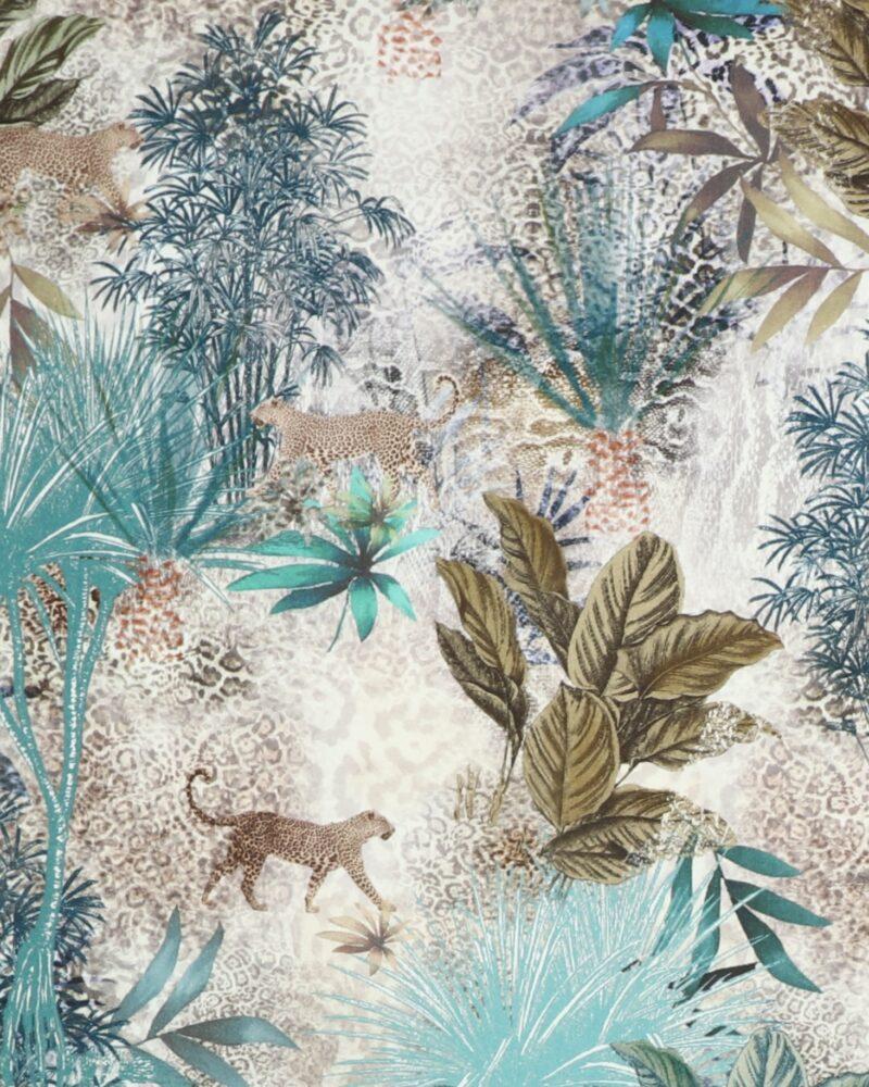 Gepard i skov - Bomuld/lycra - Info mangler
