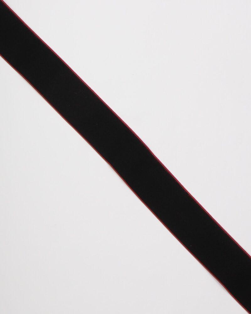 Sort m. rød kant - 40 mm elastik -