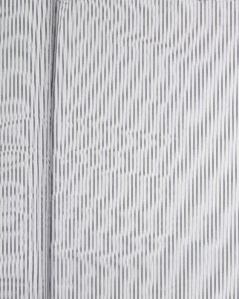 Striber blå/hvid - Bomuld m. stræk -