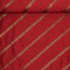 Mørk rød m. påsyet bånd - Thaisilke -