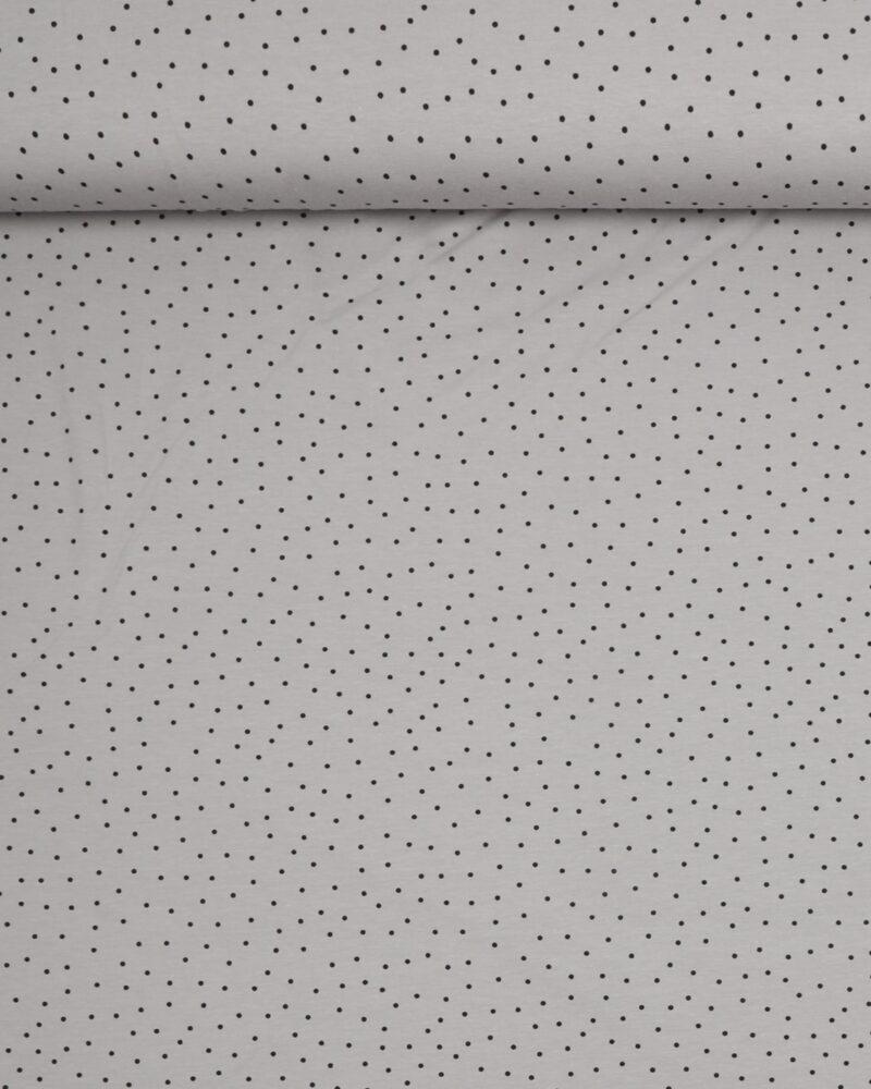 Prikker Lys grå/sort - Jersey -