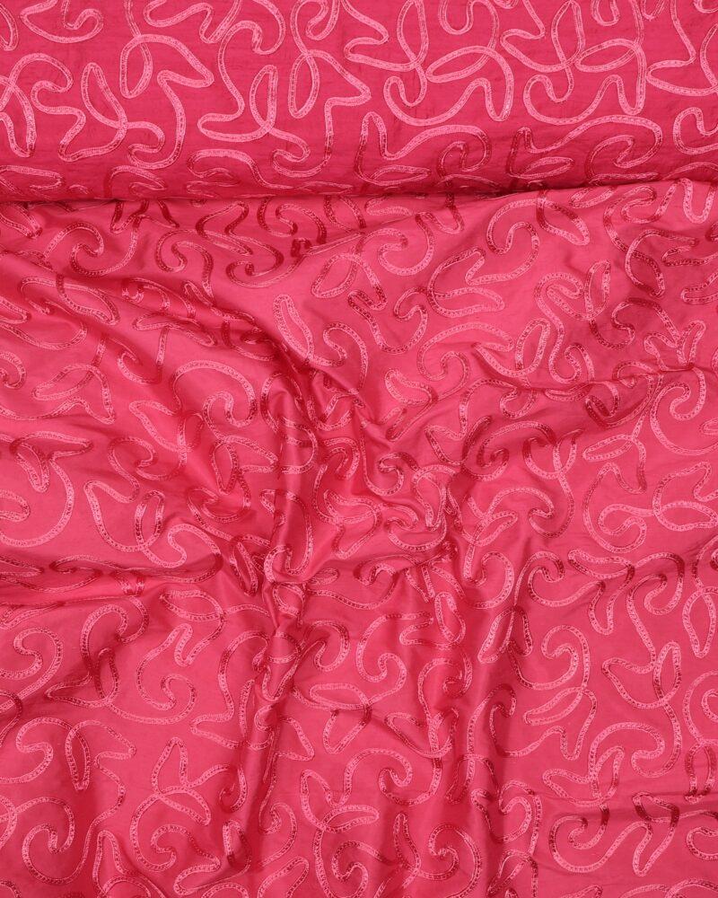Pink m. påsyet mønster - Silke -