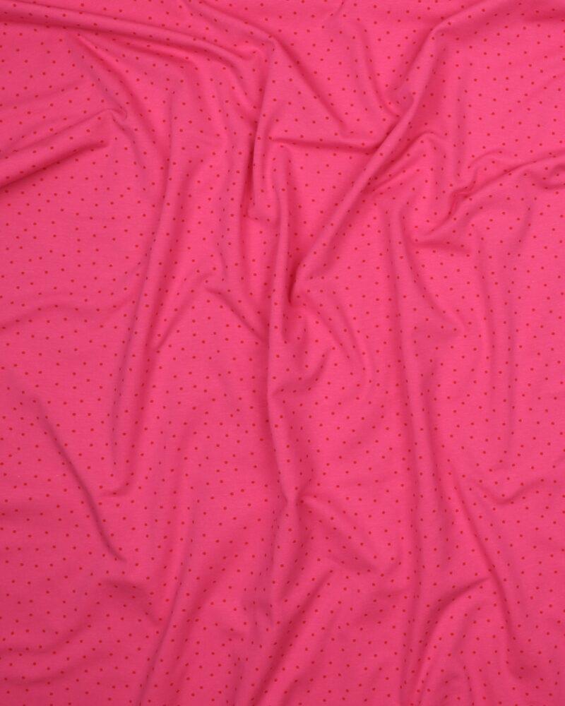 Prikker Hindbærfarvet/mørk pink - Jersey -