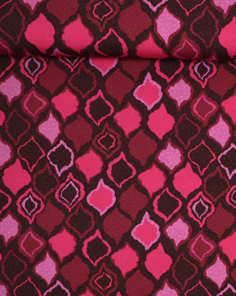 Mønster i røde nuancer - Jersey -