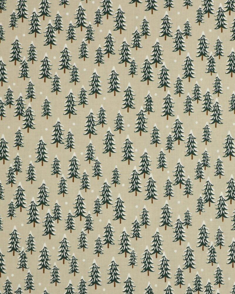 Grantræer på grå bund - Patchwork -