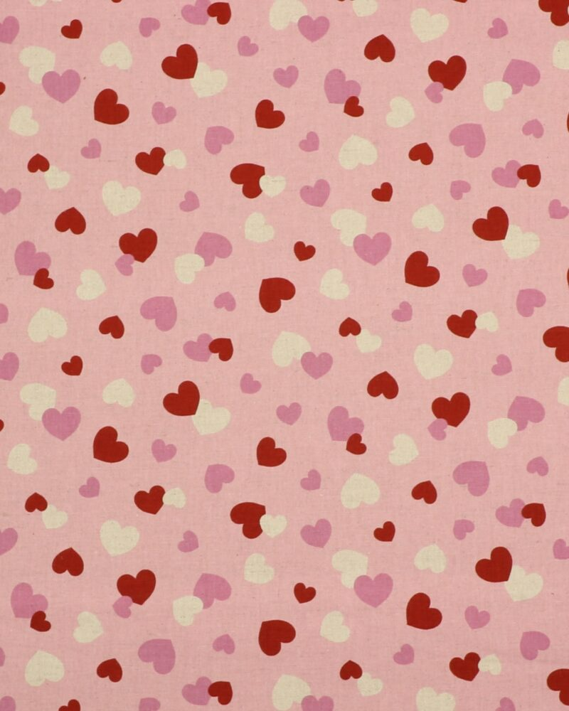 Hjerter på lyserød - Patchwork -