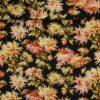 Store blomster på sort - Patchwork -