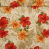 Blomster på naturfarvet bund - Patchwork -