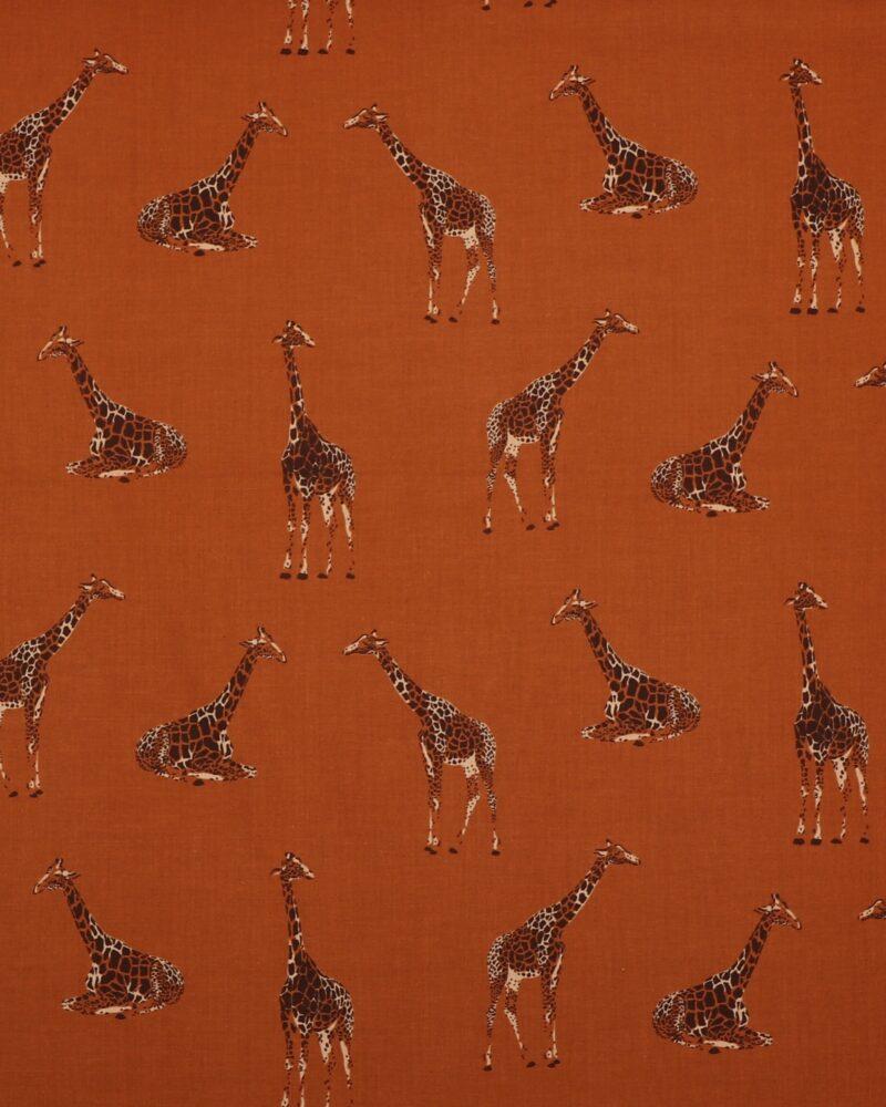 Giraffer på brun bund - Patchwork -