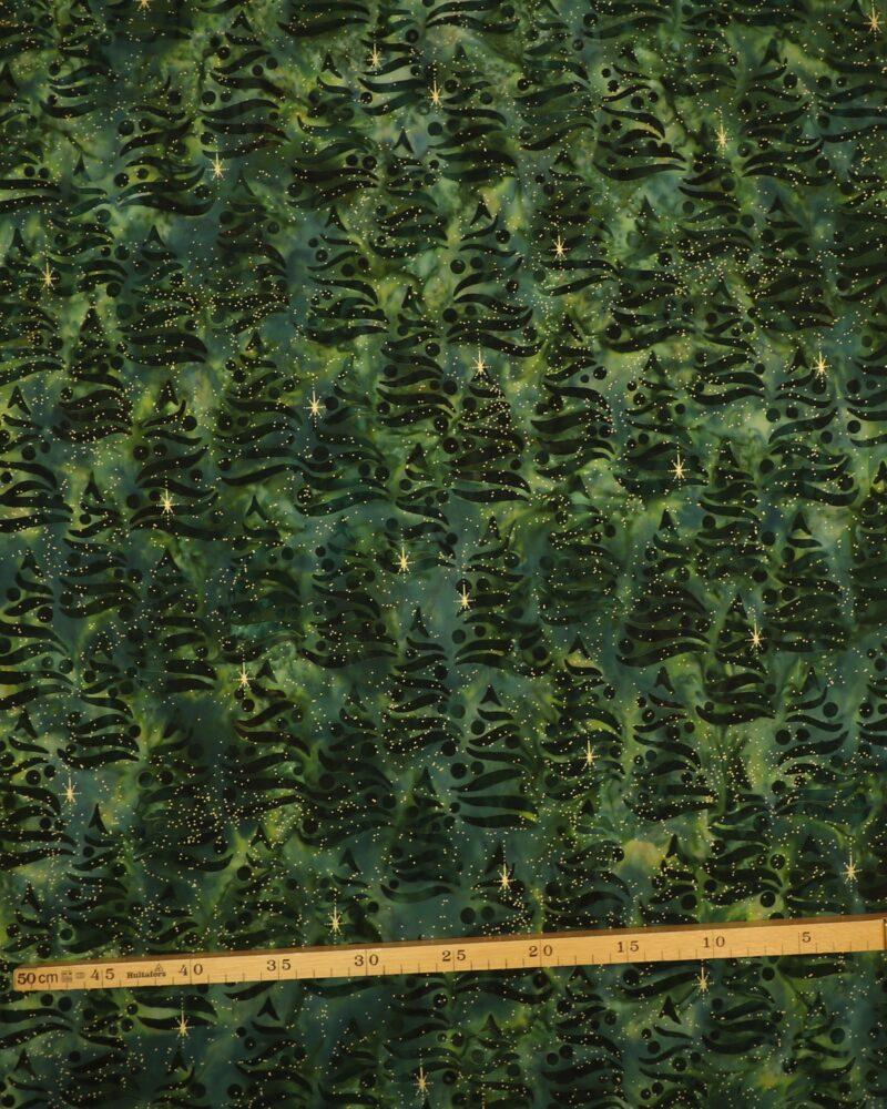 Holiday moments, grønne træer - Patchwork (Balistof) -