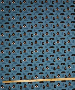 Muldvarp på blå bundfarve - Jersey -