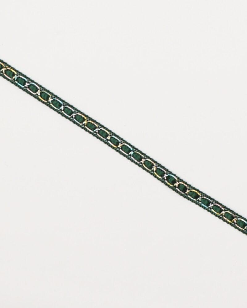Grøn m. sølv - 8 mm -