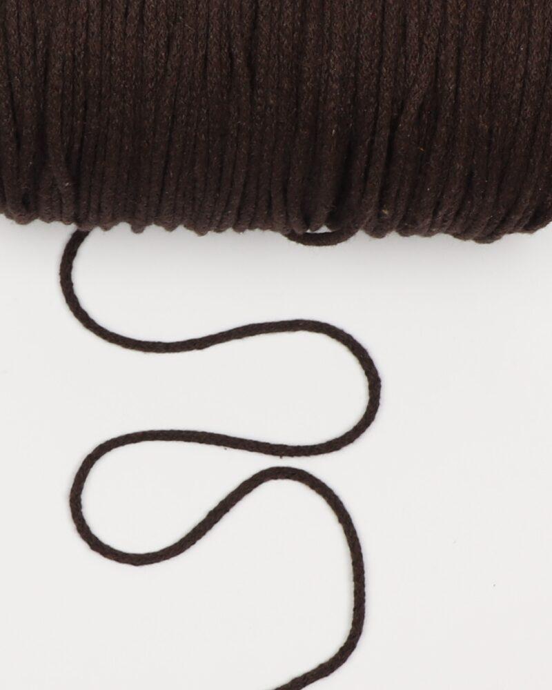 Mørkebrun 4,5 mm - Bomuld -